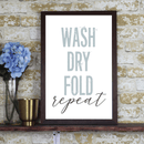 Wash Dry Fold Repeat Farmhouse Print