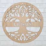 Wooden Personalized Tree of Life