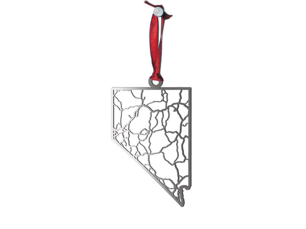 Nevada Ornament - Cool Cut Map Gift