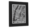 "New York City | Stainless Steel Map | 11"" x 14"" - Cool Cut Map Gift"