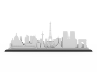 Paris Stainless Steel Skyline - Cool Cut Map Gift