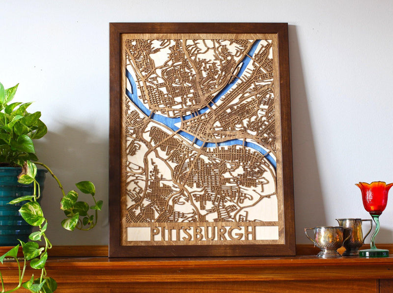 "18""x24"" Pittsburgh 3 Layer Map"