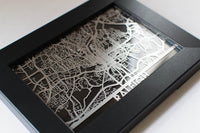 "Raleigh - Stainless Steel Map - 5""x7"""