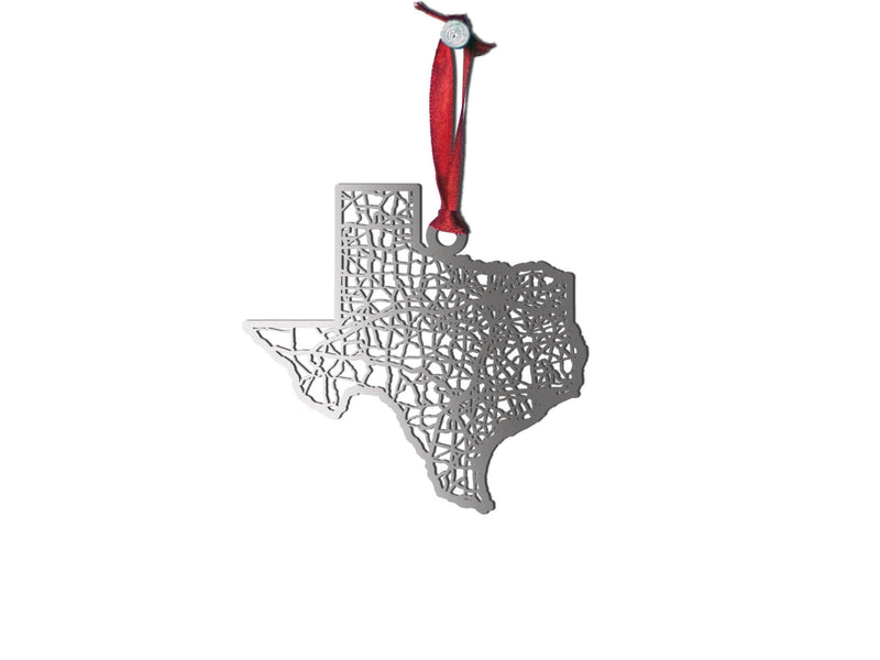 Texas Ornament - Cool Cut Map Gift