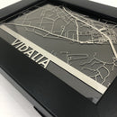 "Vidalia, LA - Stainless Steel Map - 5""x7"""
