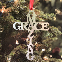 Amazing Grace Cross Ornament