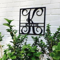 Square Vine Monogram Initial & Family Name | Brad's Deals