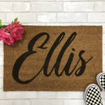 Personalized Script Name Doormat