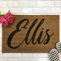 Personalized Script Name Indoor Doormat