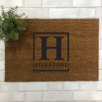 Initial Name Block Doormat