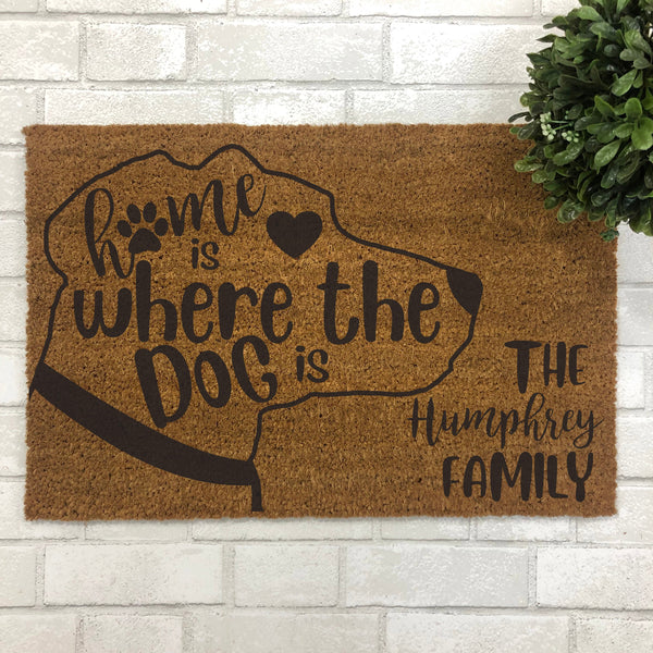 Home is Where the Dog is Indoor Doormat