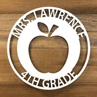 Teacher Apple Sign