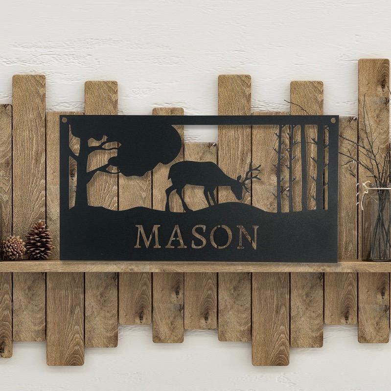 Custom Deer Scene Sign