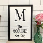 Family Name Farmhouse Print