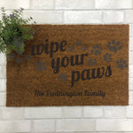 Wipe Your Paws Indoor Doormat