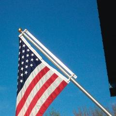 wall flagpole with counterweight