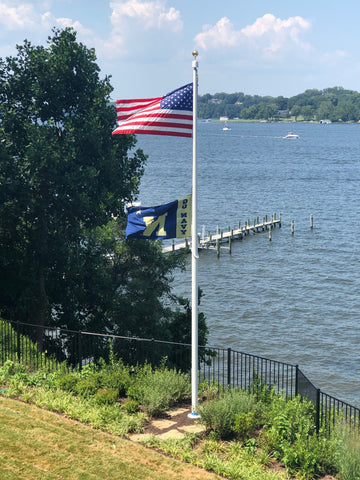 25' Flagpole by the water