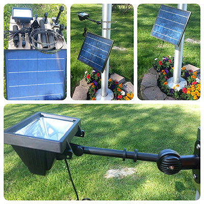 420 Lux Led Commercial Solar Flagpole Light