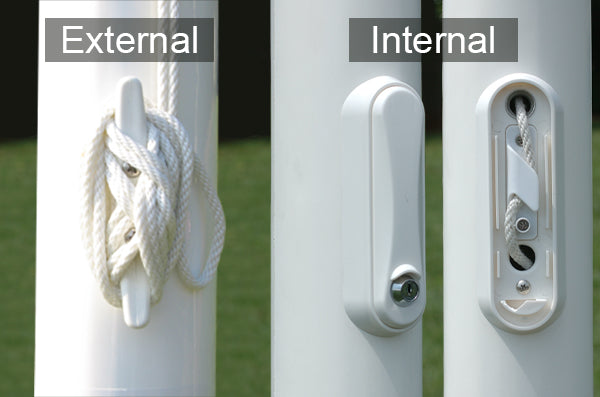 An example of an internal halyard and an internal halyard