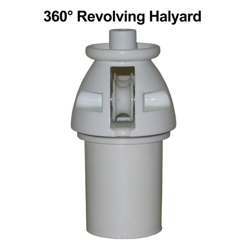 A 360 degree version halyard called a revolving halyard