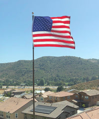 Randy's flag flying on top of the flagpole