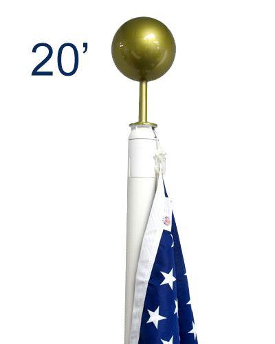 20ft Fiberglass Flag Pole
