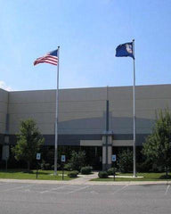 20ft Tapered Aluminum Flagpole - External Halyard