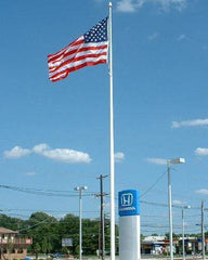 25ft Tapered Aluminum Flagpole - Internal Halyard