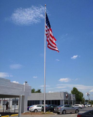 50ft Tapered Aluminum Flagpole Internal Halyard