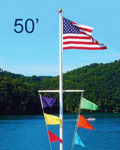 50ft Nautical Aluminum Flagpole