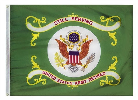 Nylon Army Retired Flag