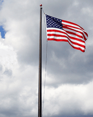 25ft Tapered Aluminum Flagpole - External Halyard