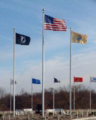 80ft Tapered Aluminum Flagpole - External Halyard