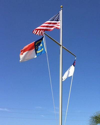 60ft Nautical Aluminum Flagpole Liberty Flagpoles
