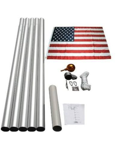 20ft Aluminum Flagpole Kit