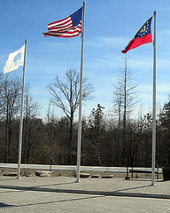 35ft Tapered Aluminum Flagpole - Internal Halyard
