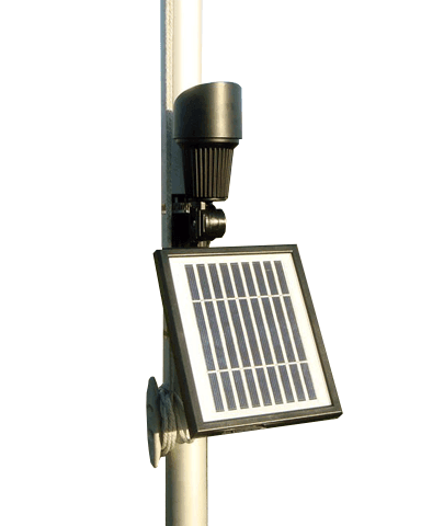 Professional Grade Solar Flagpole Light
