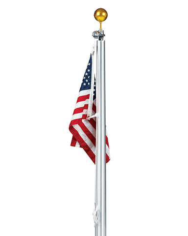 40ft Tapered Aluminum Flagpole - External Halyard