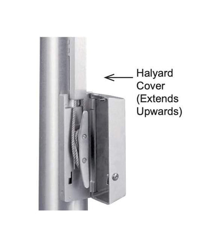 Commercial Flagpole External Halyard Cover