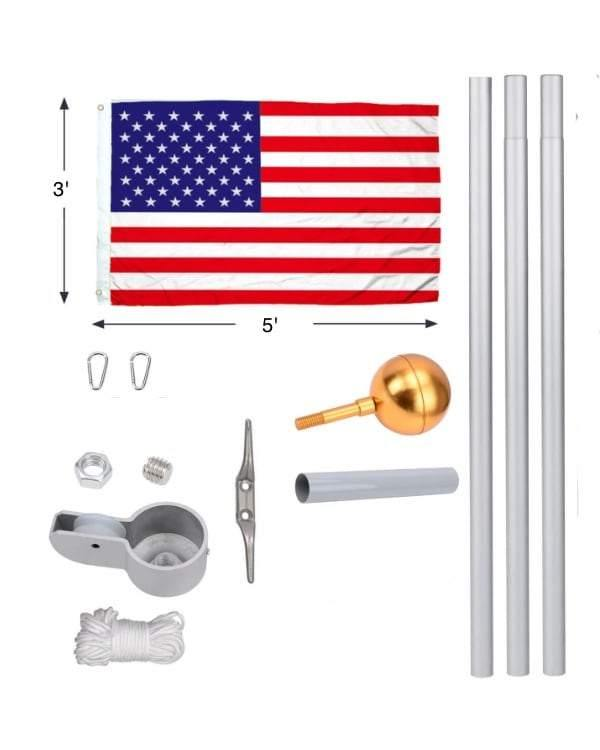 20ft Premium Aluminum Flagpole Kit
