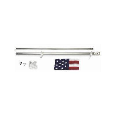 Stainless Steel Silver Wall Flagpole