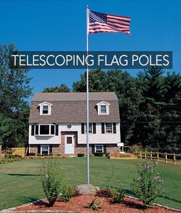 telescoping flagpole in front of home