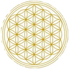 "Flower of Life 11.5""Large Deep Resonator Sound therapy Singing Bowls."