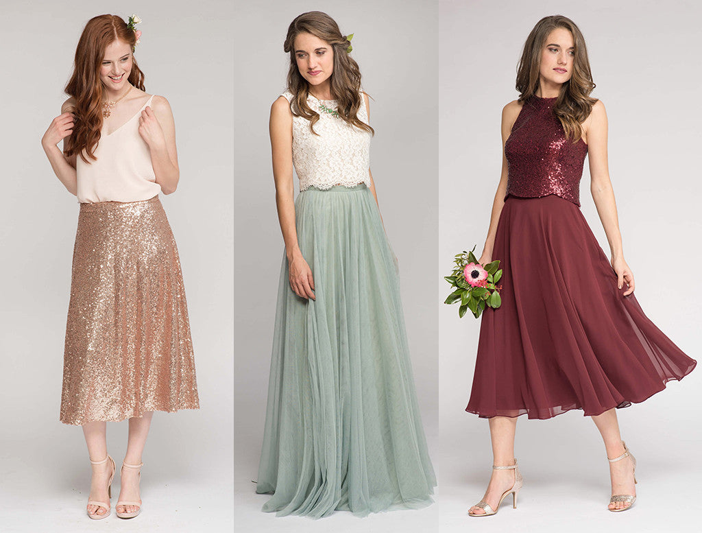 2017 Bridesmaid Trends - Two Pieces
