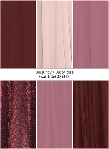 Burgundy + Dusty Rose Swatch Set