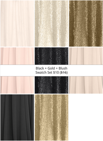 Black + Gold + Blush Swatch Set