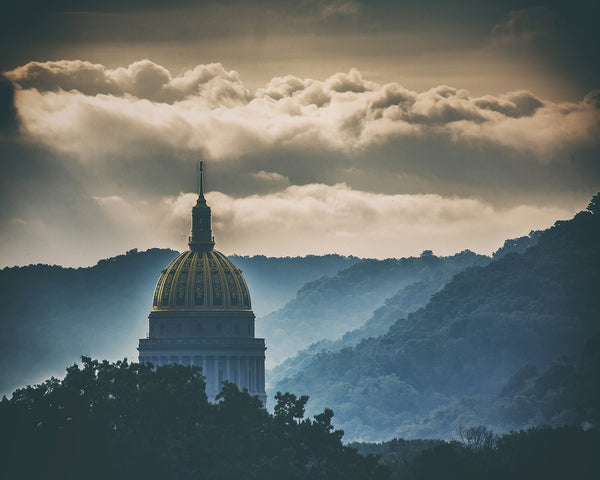 Early morning West Virginia State Capitol