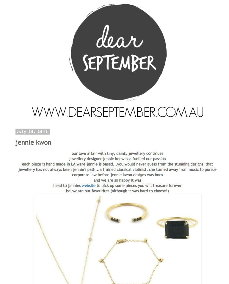 dear september - Jul 2013