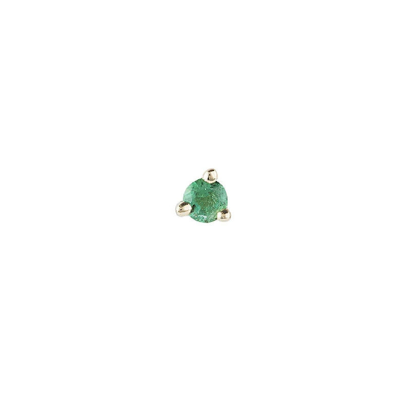 1.5 mm Emerald Dot Stud (Single)