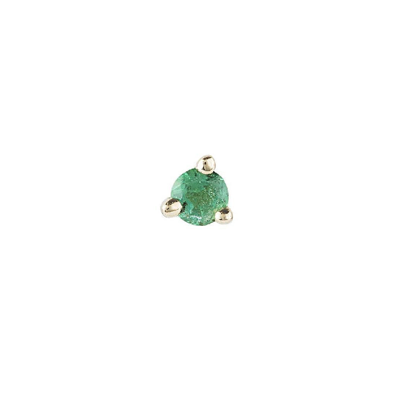 2 mm Emerald Dot Stud (Single)